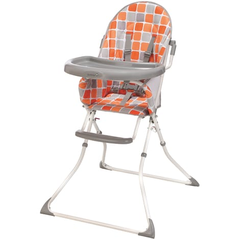 SAFETY FIRST Chaise haute pliable orange Kanji