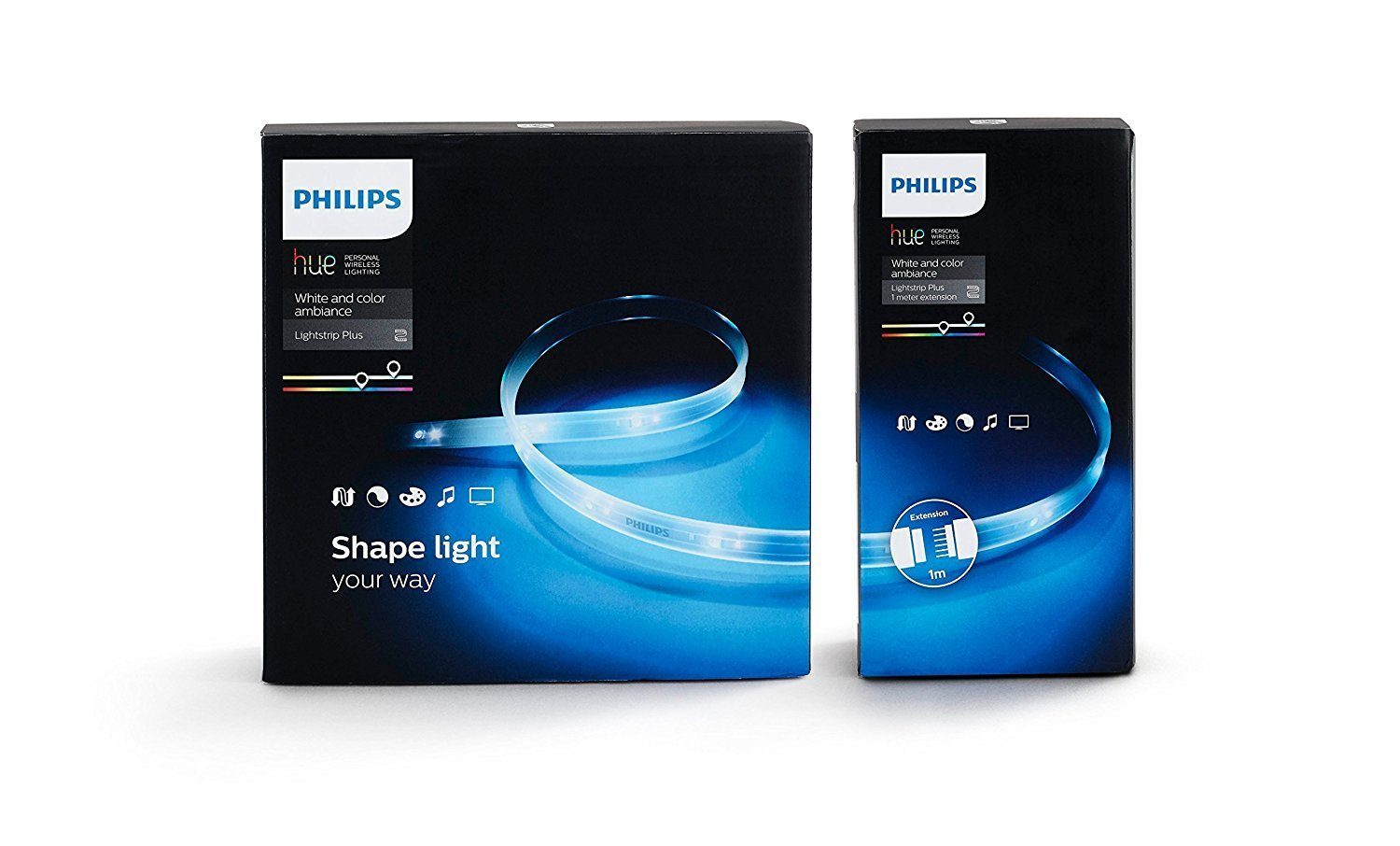 Philips Ruban lumineux Hue Lightstrip Plus 2m + Extension 1m
