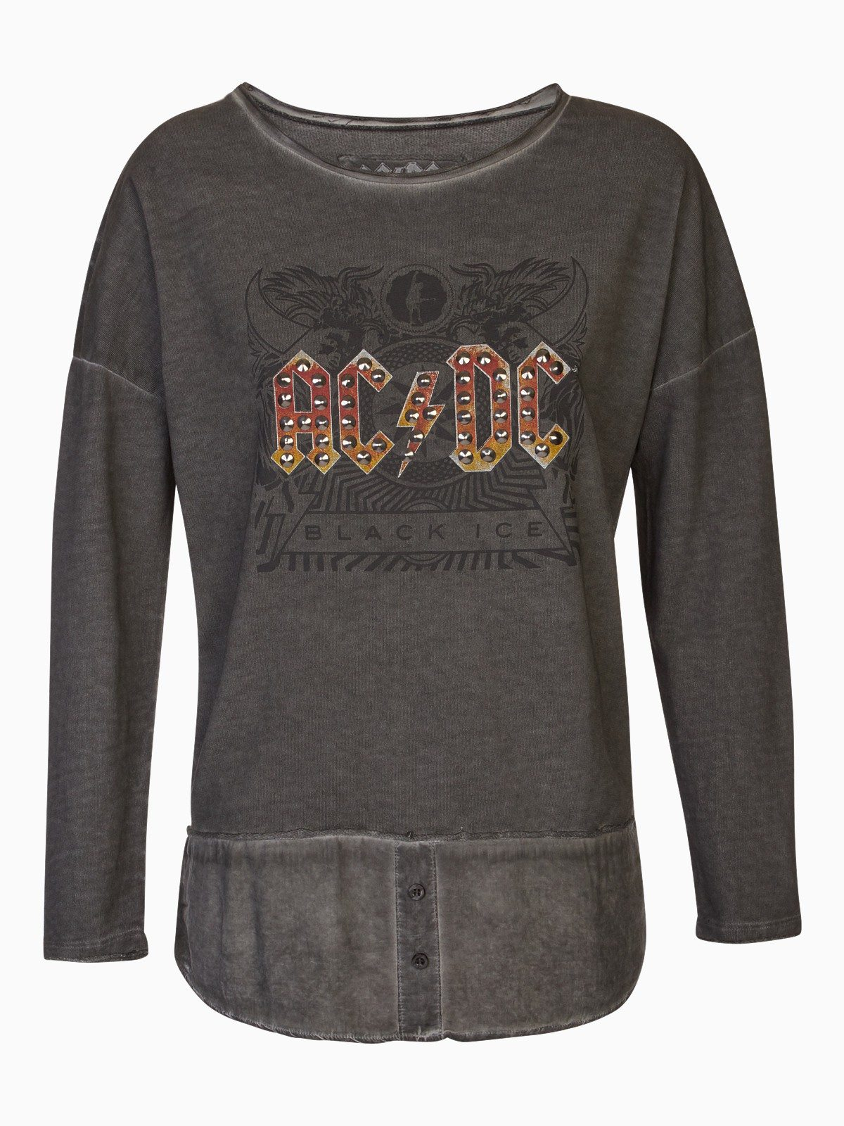 Sweat-shirt chiné ACDC