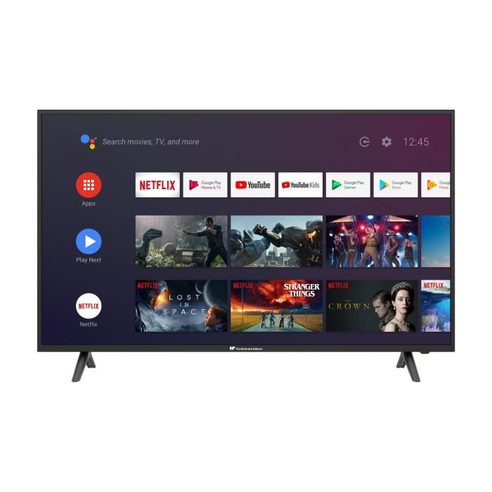 continental edison android smart tv 55 4k uhd wi