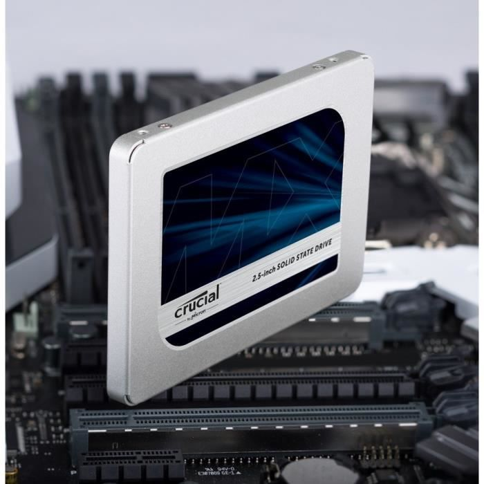 crucial disque ssd interne mx500 1to 2 5