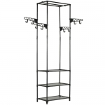 Clothes Rack Steel and Non-woven Fabric 55 x 28.5 x 175cm – Black NL (entrepot EU)