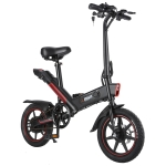 Pre-sale DOHIKER Y1 Folding Electric Bicycle 350W 36V Waterproof Electric Bike with 14inch Wheels 10Ah Rechargeable Battery – Black