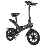 DOHIKER Y1 Folding Electric Bicycle 350W 36V Waterproof Electric Bike with 14inch Wheels 10Ah Rechargeable Battery – Black Poland (entrepot EU)