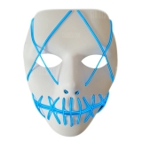 Halloween EL Wire Ghost Mask Cold LED Light Up Neon Mask For Halloween – WHITE
