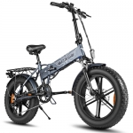 ENGWE EP-2 500W Folding Fat Tire Electric Bike with 48V 12.5Ah Lithium-ion Battery – Dark Grey Germany (entrepot EU)