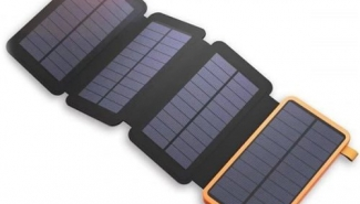 25000mAh Power Bank Waterproof Folding Solar Panel Charger – Orange