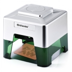 Alfawise C50 Mini Wireless Smart Laser Engraver Cutter APP Operation Freely DIY Various Materials Engraving Machine 100 x 90mm Engraving Area – Silver EU Plug