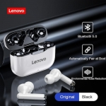 TWS Earphones Lenovo LP1 Bluetooth 5.0 Earbuds Wireless Charging Box 9D Stereo Sports Waterproof Headsets With Microphone Mic – Black