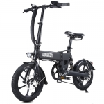 DOHIKER Folding Electric Bicycle 250W Collapsible Electric Commuter Bike with 16 Wheels 36V 7.5Ah Rechargeable Lithium-ion Battery 6-Speed Gear – Midnight Black Poland (entrepot EU)