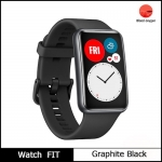 Global Version HUAWEI Watch FIT SmartWatch Quick-Workout Animations Blood Oxygen Watch FIT 10 Days Battery Life – Graphite Black