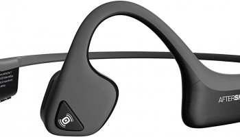 AFTERSHOKZ Trekz Air Sport Bluetooth Bone Conduction Ecouteurs Conduction Osseuse Casque Bloothooth Sans Fil Avec Micro, Gris