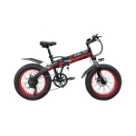 Smlro S9 Electric Bike 20inch 4.0 Fat Tire Aluminum Foldable Electric Bicycle 48V10AH 500W Powerful Mountain Snow Beach E-Bike – Black Red China 20inch