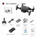 Mini RC Drone with 4K HD Camera WiFi FPV UAV Aerial Photography Helicopter Foldable LED Light Quadrocopter Quality Toy AOSST – NO camera Black