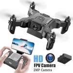 Mini Drone With Without HD Camera Hight Hold Mode RC Quadcopter RTF WiFi FPV Quadcopter Follow Me RC Helicopter Quadrocopter – 2MP camera 1 battery