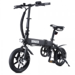 DOHIKER Folding Electric Bicycle 250W Collapsible Electric Commuter Bike with 14 Wheels 36V 10Ah Rechargeable Lithium-ion Battery LED Headlight – Midnight Black Poland(entrepot EU)