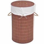 Laundry Basket Bamboo Brown – Round France