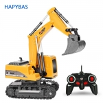 2.4Ghz 6 Channel RC Excavator toy RC Engineering Car Alloy and Plastic Excavator RTR For Kids Christmas Gift – Without battery