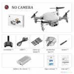 Mini RC Drone with 4K HD Camera WiFi FPV UAV Aerial Photography Helicopter Foldable LED Light Quadrocopter Quality Toy AOSST – NO camera Gray