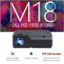 Vidéoprojecteur Full HD M18UP, 1920×1080 P, Android 6.0 WIFI